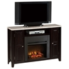 Monarch Media Fireplace - Marble Look Top, Espresso Wood - SSC-MC560SET