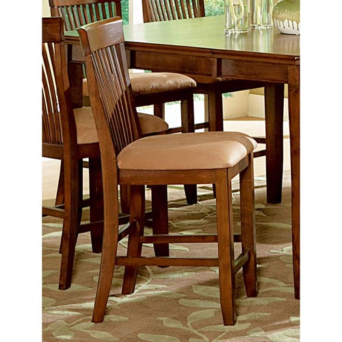 Montreal 24 Wood Counter Chairs Microfiber Seat Dcg Stores