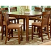 Montreal 9 Piece Counter Set with Wood Table - SSC-MT-CNTR-9PC