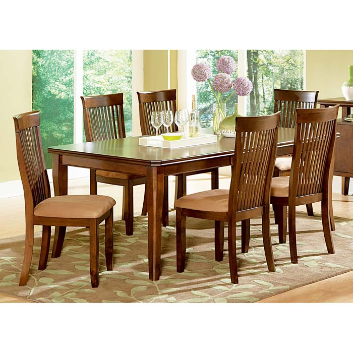 Montreal piece dining set with slatted back chairs dcg