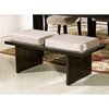 Movado Velvet Seat Bench with Wood Panel Legs - SSC-MV200BN