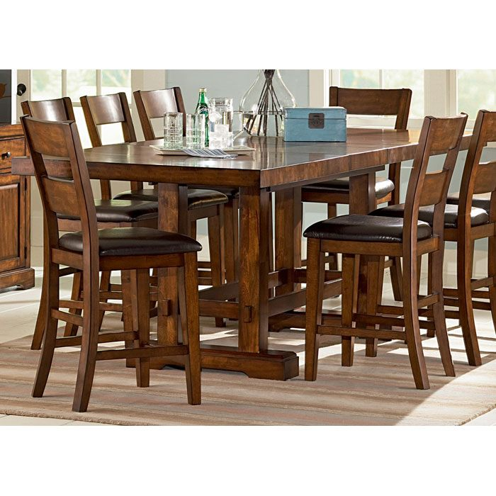 Zappa 9 Piece Counter Set with Mission Style Table | DCG Stores