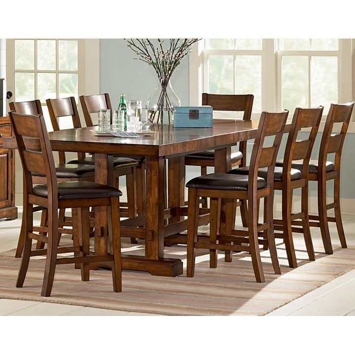 Zappa 9 Piece Counter Set with Mission Style Table