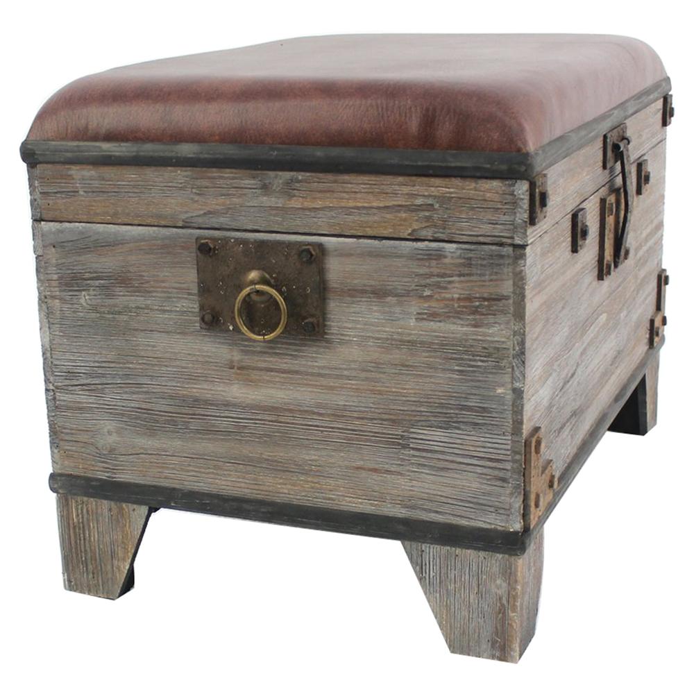 Wood storage ottoman dcg stores