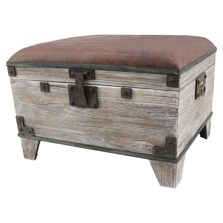 Superieur Wood Storage Ottoman   TETN AF 028 ...