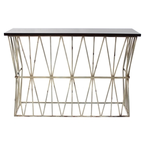 Metal Console Table with MDF Top