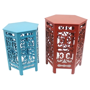 2-Piece Wood Accent Tables