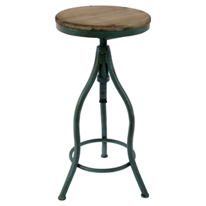 Metal Table - Round Top, Green Base