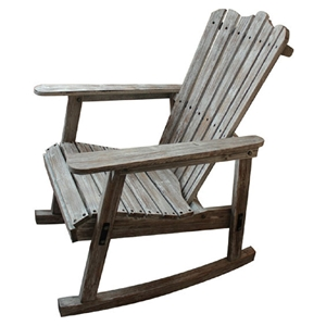 Adirondack Rocker Chair - Distressed Finish