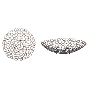 Multi-Circle Metal Tray (Set of 4)
