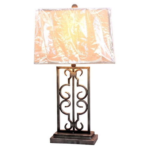 Metal Table Lamp Rectangular Shade Set Of 2 Dcg Stores