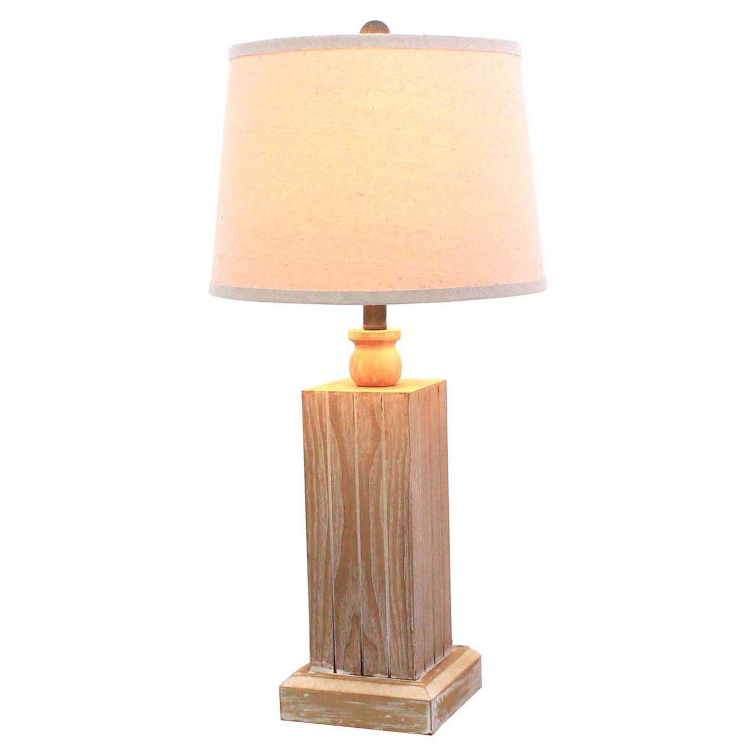 Distressed wood table lamp set of 2 dcg stores for Wood table lamps