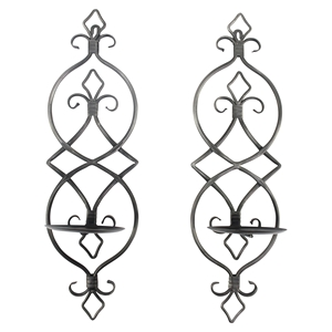 2 Pieces Metal Candle Holder (Set of 2)