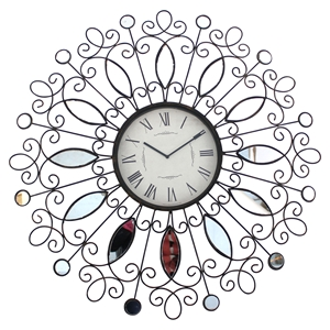 Round Metal Wall Clock (Set of 4)