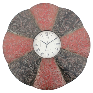 "30"" Round Metal Wall Clock (Set of 4)"