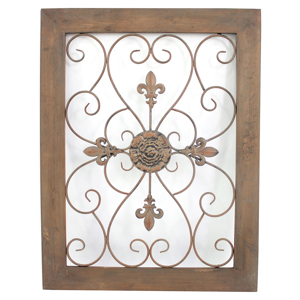 Wall Decor Wood Metal : Quot h metal and wood wall decor set of dcg stores