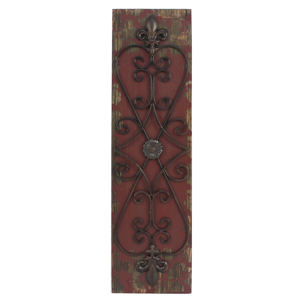 Wood And Metal Wall Decor Set Of 4 Dcg Stores