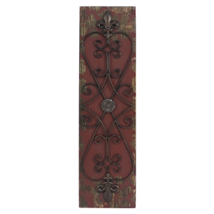 Wood and Metal Wall Decor (Set of 4)
