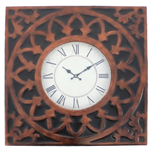 Wall Clock - Square, Metal Frame (Set of 4)