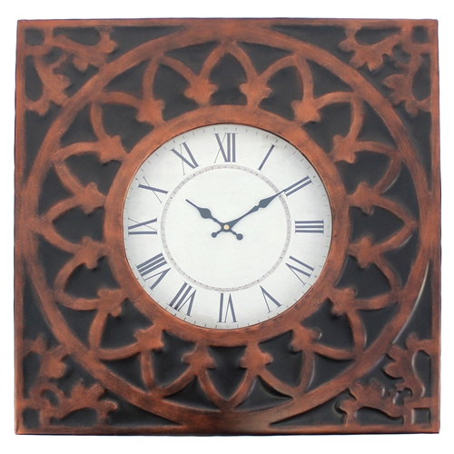 Wall Clock Square Metal Frame Set Of 4 Dcg Stores