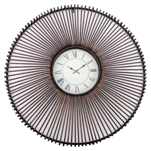 "36"" Round Metal Wall Clock (Set of 2)"