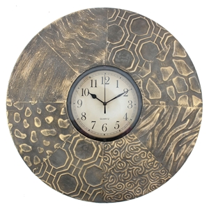 "20.5"" Round Metal Wall Clock (Set of 4)"