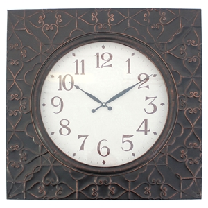 "28"" Square Metal Wall Clock (Set of 4)"