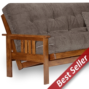 Stanford Wood Futon Frame - Heritage Finish