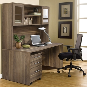 100 Series Executive Office Desk - Hutch, Mobile Pedestal