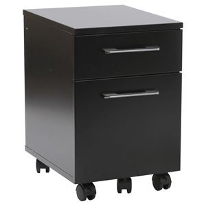 200 Series Mobile File Cabinet - 2 Drawers, Black