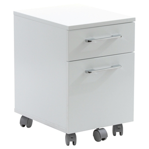 200 Series Mobile File Cabinet - 2 Drawers, White