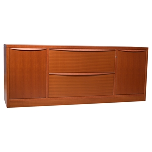 Sit Stand Series Storage Credenza - 2 Drawers, 2 Doors