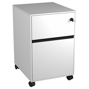400 Series Mobile Pedestal - 2 Drawers, White