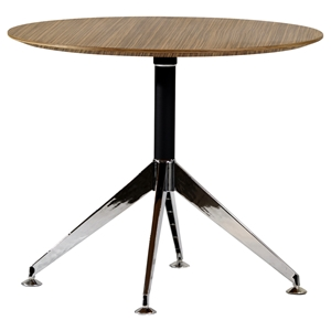 400 Series Round Meeting Table - Zebrano