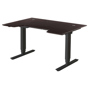 "Sit Stand Series Electric Standing 65"" Desk - Height Adjustable, Espresso"