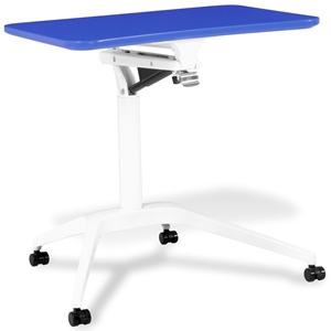 Mobile Laptop Table - Adjustable Height, Blue