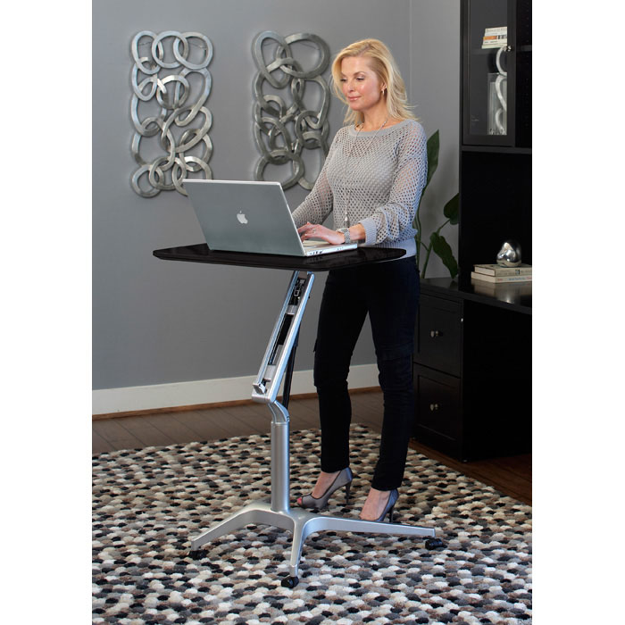 Adjustable Height Laptop Stand - Espresso - UNIQ-X201-ESP