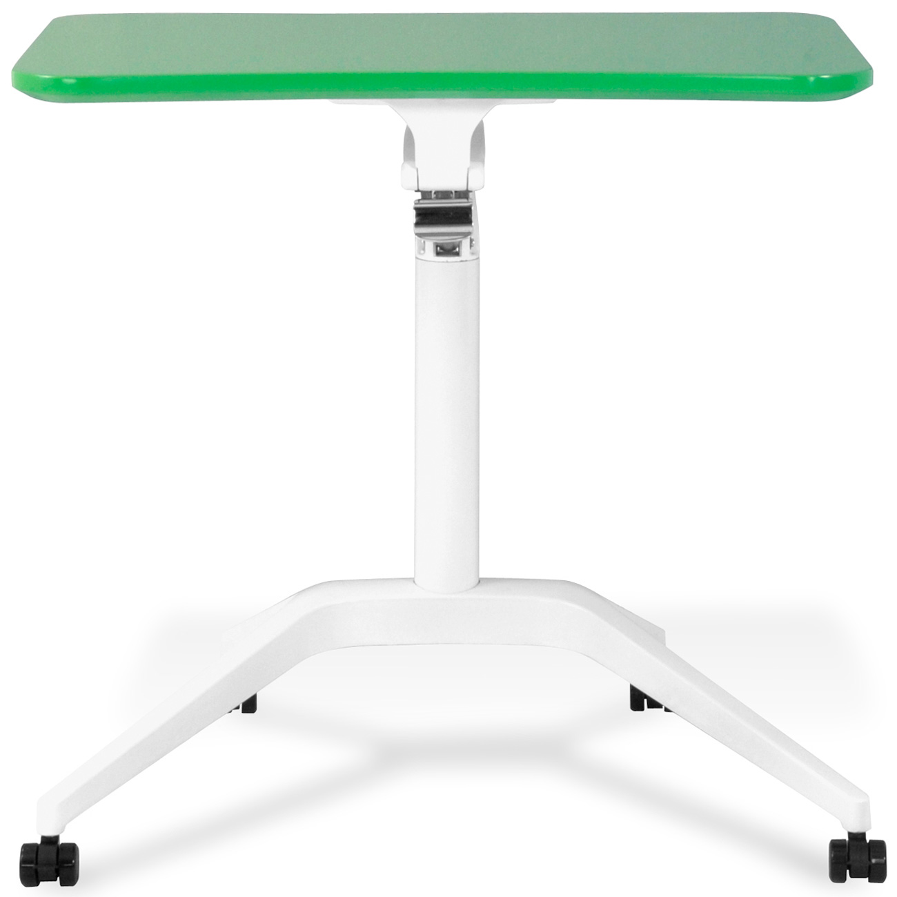 Mobile Laptop Table - Adjustable Height, Green - UNIQ-X201-GRE