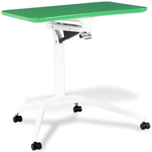 Mobile Laptop Table - Adjustable Height, Green