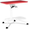 Mobile Laptop Table - Adjustable Height, Red - UNIQ-X201-RED