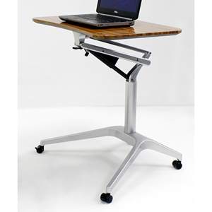 Adjustable Height Laptop Stand - Walnut