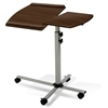 Adjustable Laptop Stand - Silver, Walnut - UNIQ-X202-WAL