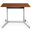 Mobile Sit & Stand Desk - Adjustable Height, Cherry - UNIQ-X204-CH