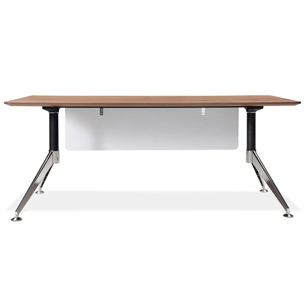 71 Inch Rectangular Desk - Steel Legs, Modesty Panel, Walnut - UNIQ-X302-WAL