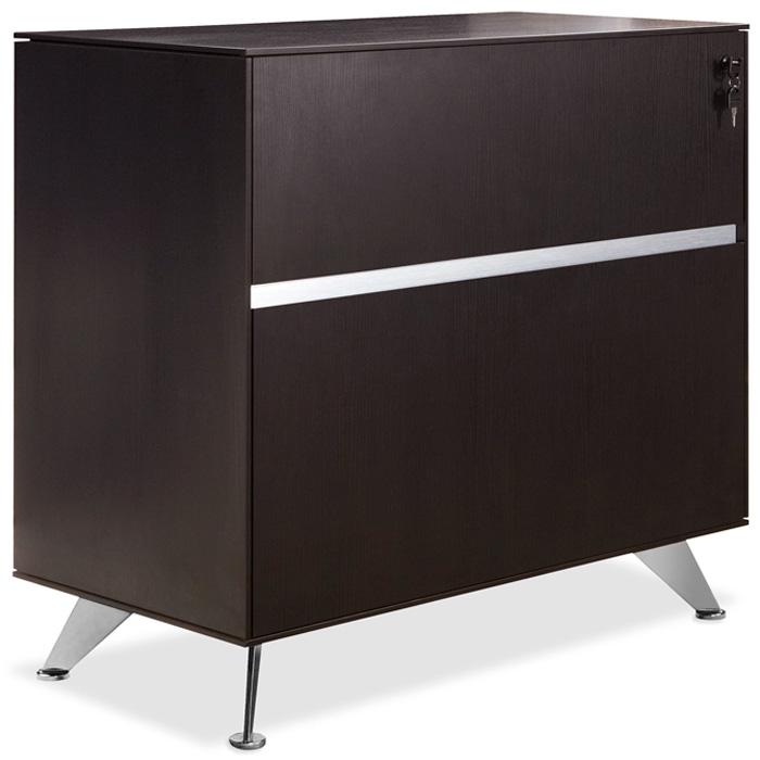 Lateral File Cabinet   Lock, Aluminum Legs, Espresso   UNIQ X340 ESP ...