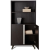 Contemporary Bookcase with Doors - Espresso - UNIQ-X360-ESP