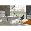 Contemporary Corner Workstation - Right File Credenza, White Lacquer - UNIQ-X481-WH