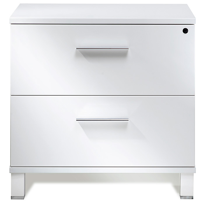 White Lacquer Cabinet pure office lateral file cabinet - white lacquer | dcg stores