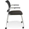 Jenna Conference Chair - Casters, Stackable, Black - UNIQ-X5356