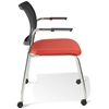 Jenna Conference Chair - Casters, Stackable, Red - UNIQ-X5357